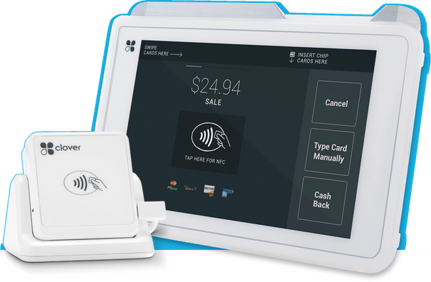 Merchant One Clover swiper and tablet