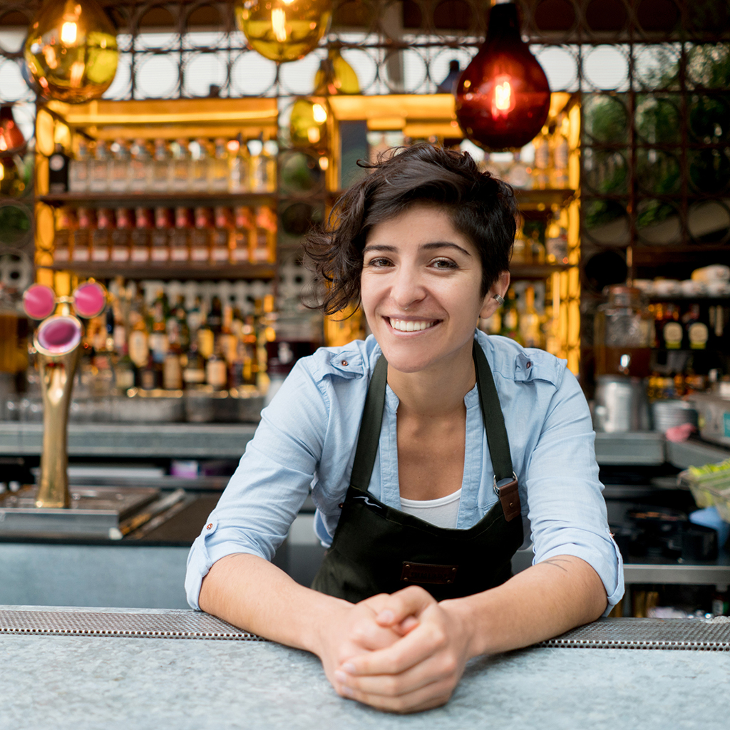 woman working at bar