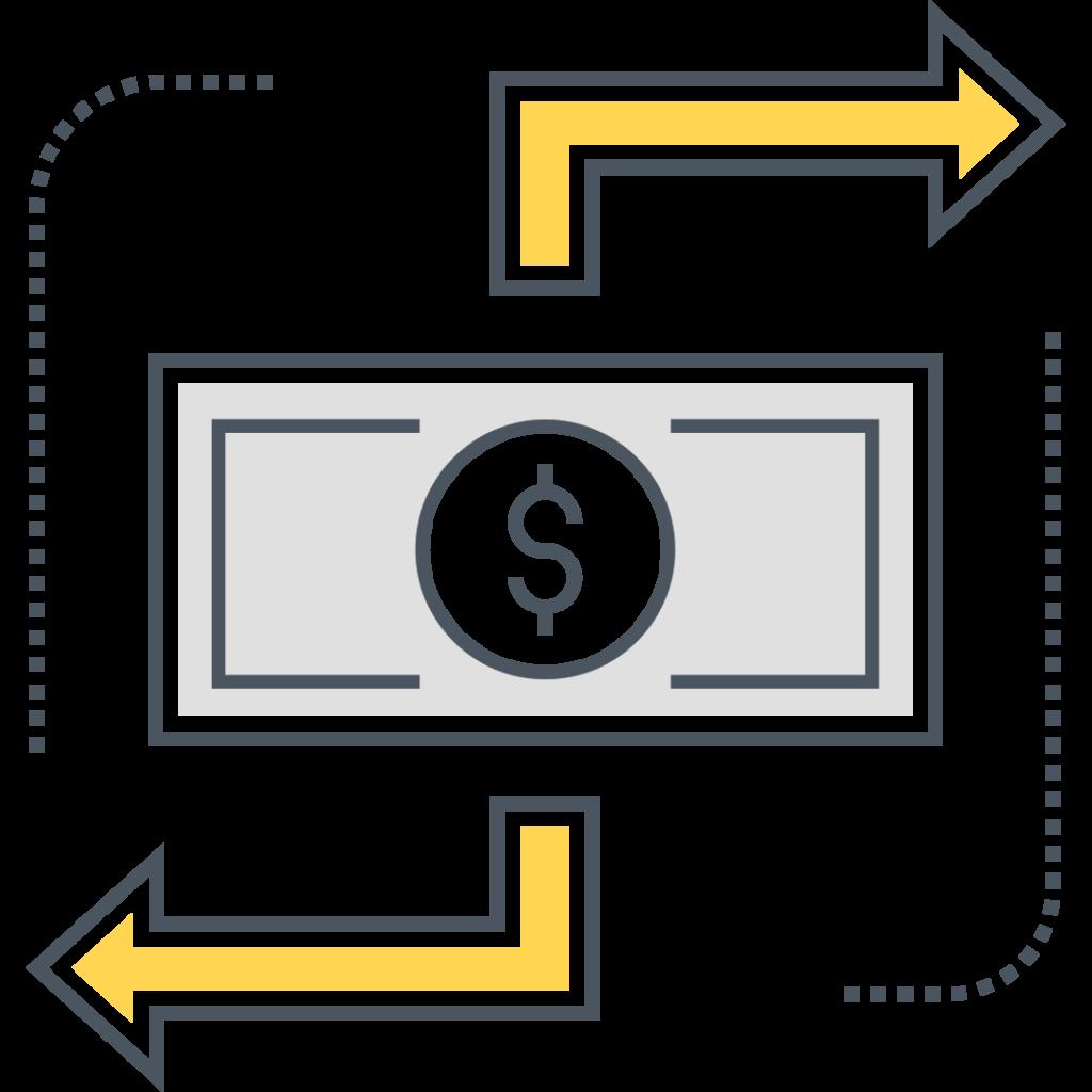 Merchant One icon money flow