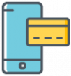 Merchant One icon mobile processing